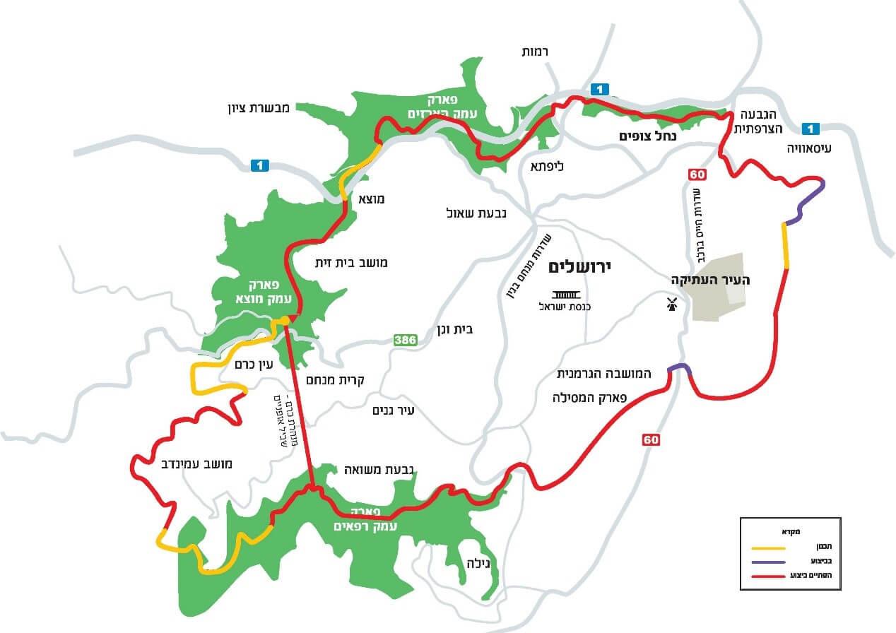 מפת מלול אופניים